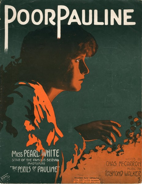 Sheet music cover - POOR PAULINE (1914)