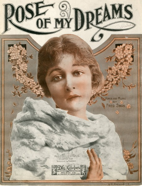 Sheet music cover - ROSE OF MY DREAMS (1919)