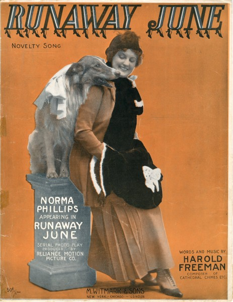 Sheet music cover - RUNAWAY JUNE - NOVELTY SONG (1915)