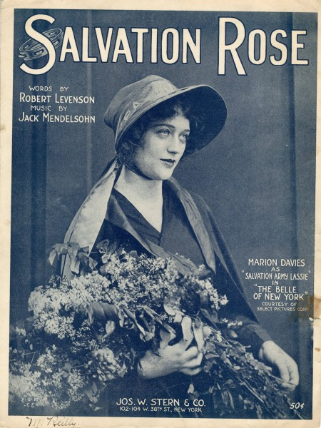 Sheet music cover - SALVATION ROSE (1919)