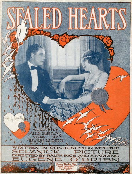 Sheet music cover - SEALED HEARTS (1919)