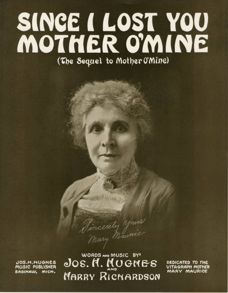 Sheet music cover - SINCE I LOST YOU, MOTHER O'MINE (1915)