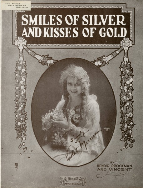 Sheet music cover - SMILES OF SILVER AND KISSES OF GOLD (1919)