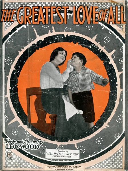 Sheet music cover - THE GREATEST LOVE OF ALL (1919)