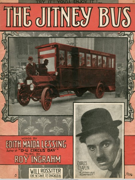 Sheet music cover - THE JITNEY BUS (1915)