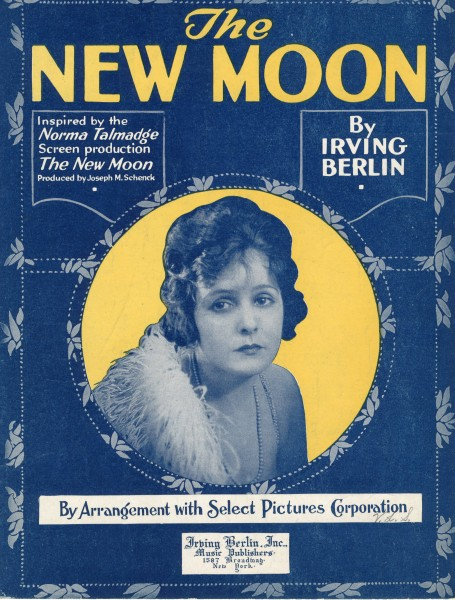 Sheet music cover - THE NEW MOON (1919)