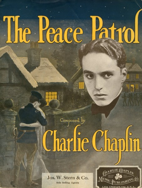 Sheet music cover - THE PEACE PATROL (1916)