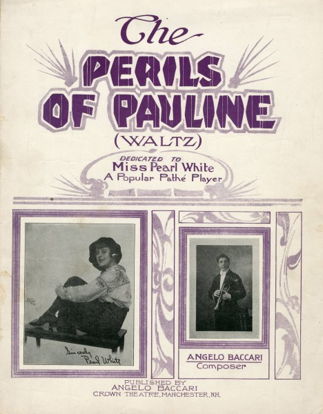 Sheet music cover - THE PERILS OF PAULINE - WALTZ (1914)