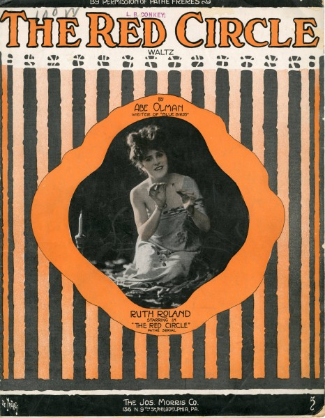 Sheet music cover - THE RED CIRCLE - WALTZ (1916)