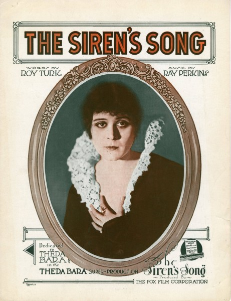 Sheet music cover - THE SIREN'S SONG (1919)