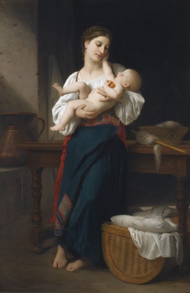 William-Adolphe Bouguereau - Premières caresse (1901)