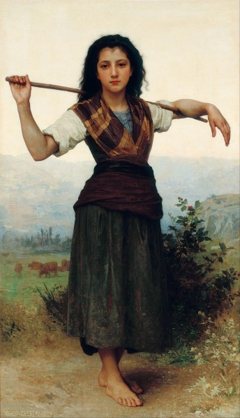 William-Adolphe Bouguereau - The Little Shepherdess - Google Art Project