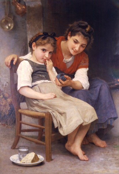 William-Adolphe Bouguereau (1825-1905) - Little Sulky (1888)