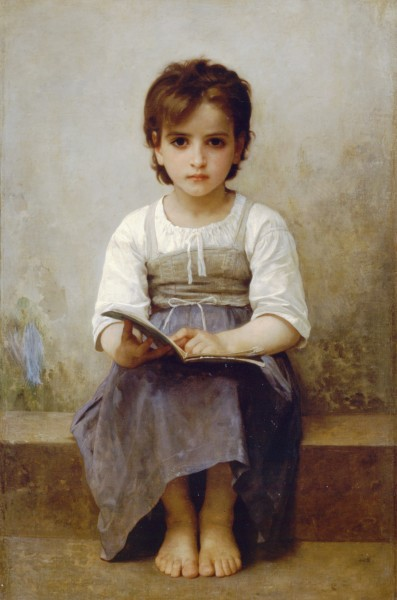 William-Adolphe Bouguereau (1825-1905) - The Difficult Lesson (1884)
