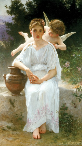 William-Adolphe Bouguereau (1825-1905) - Whisperings of Love (1889)
