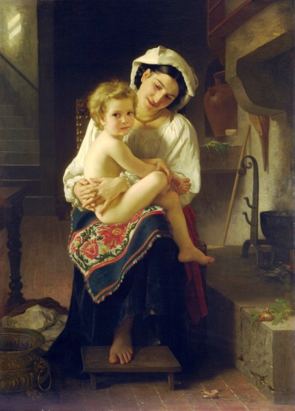 William-Adolphe Bouguereau (1825-1905) - Young Mother Gazing At Her Child (1871)