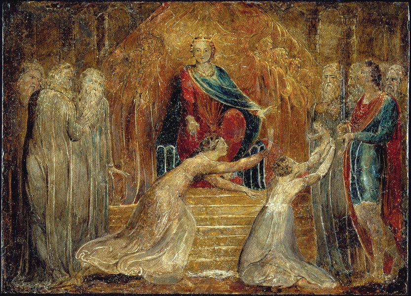 William Blake - The Judgment of Solomon