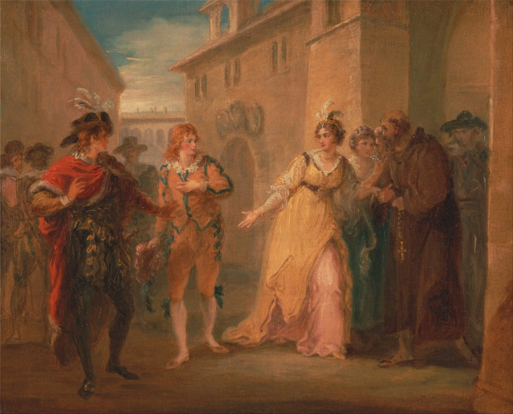 William Hamilton - The revelation of Olivia's betrothal, from