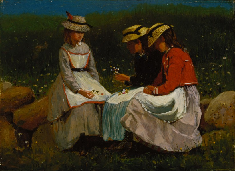 Winslow Homer - Girls in a Landscape