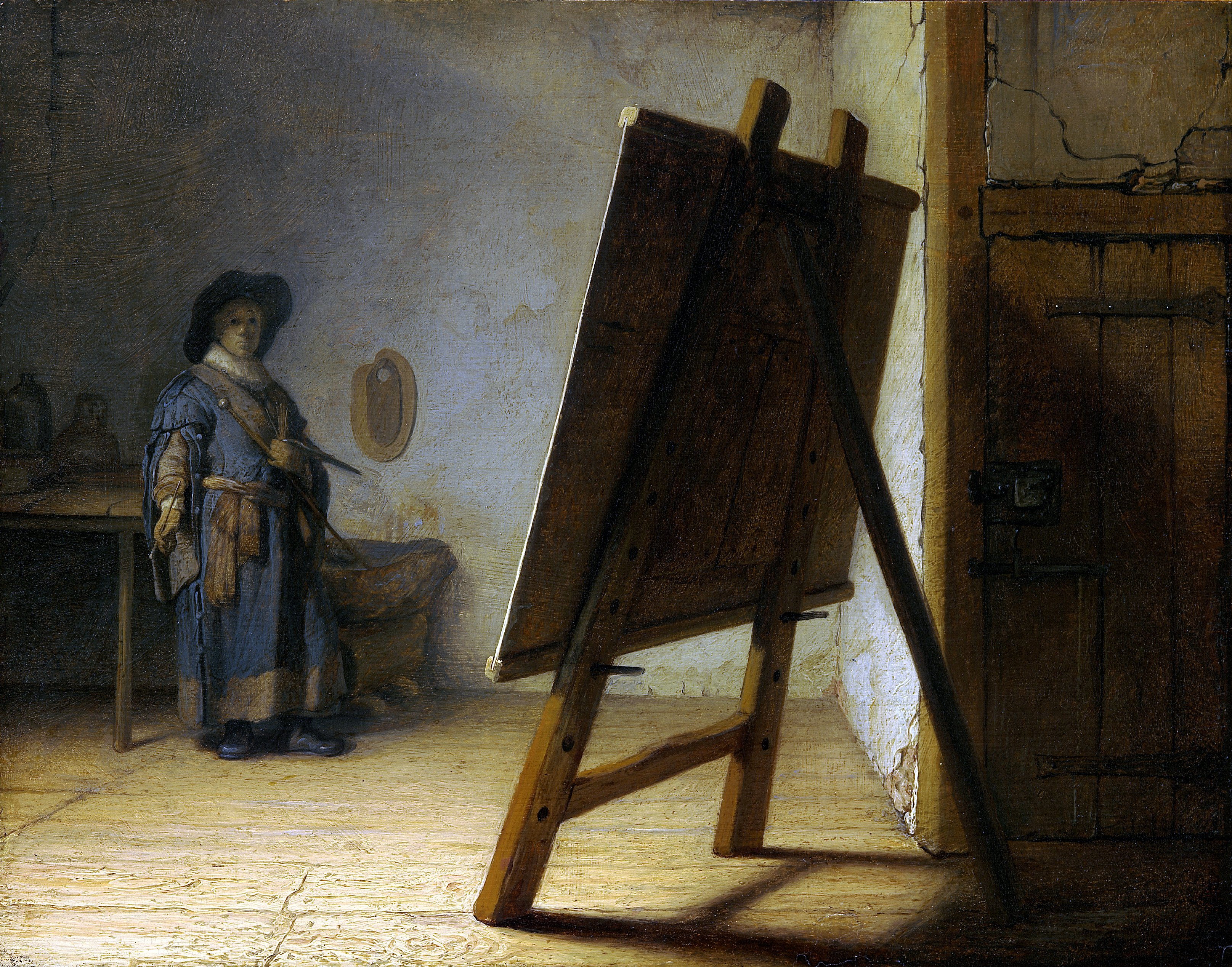 Rembrandt The Artist in his studio