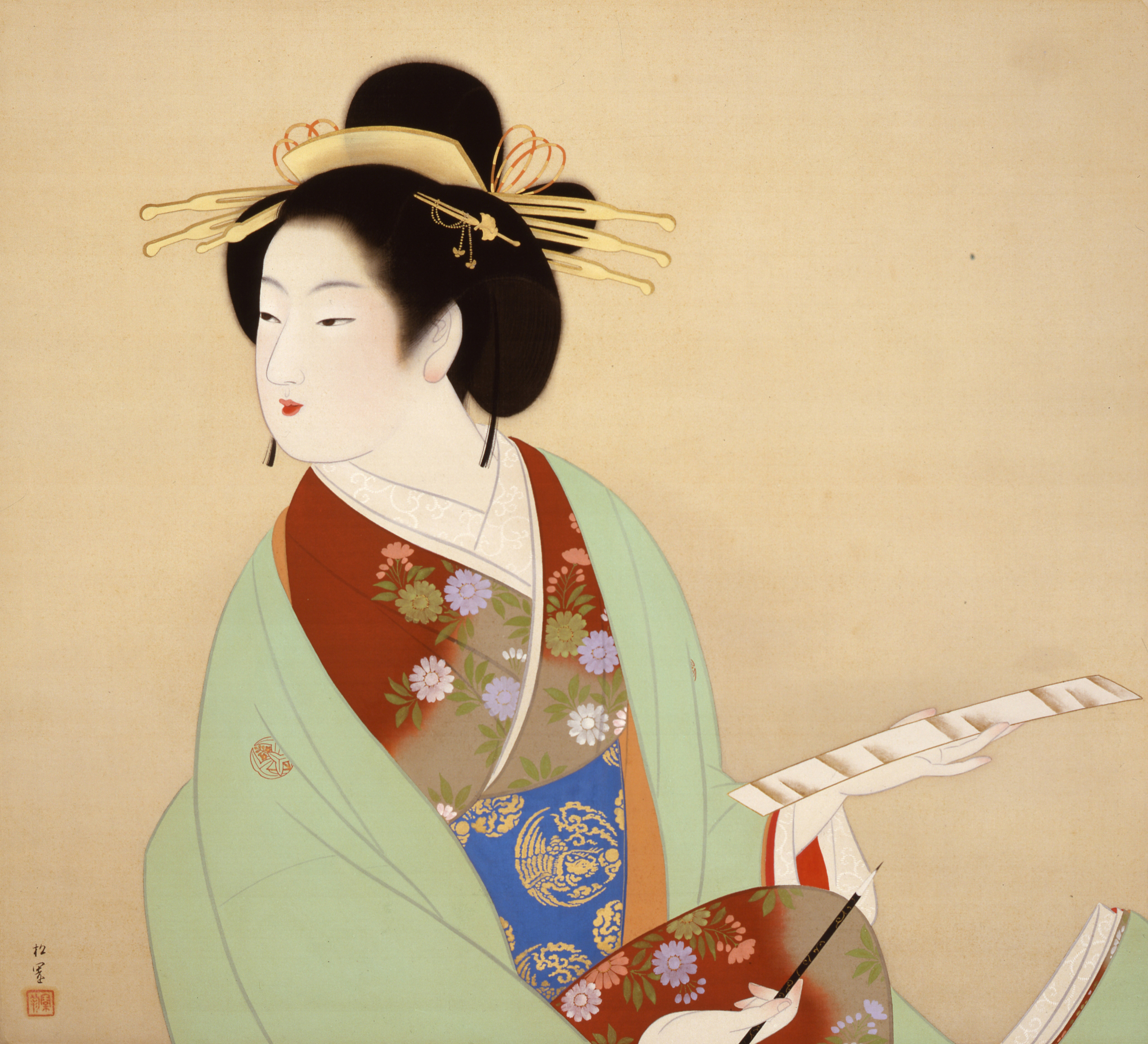 Shoen Uemura - Composition of a Poem