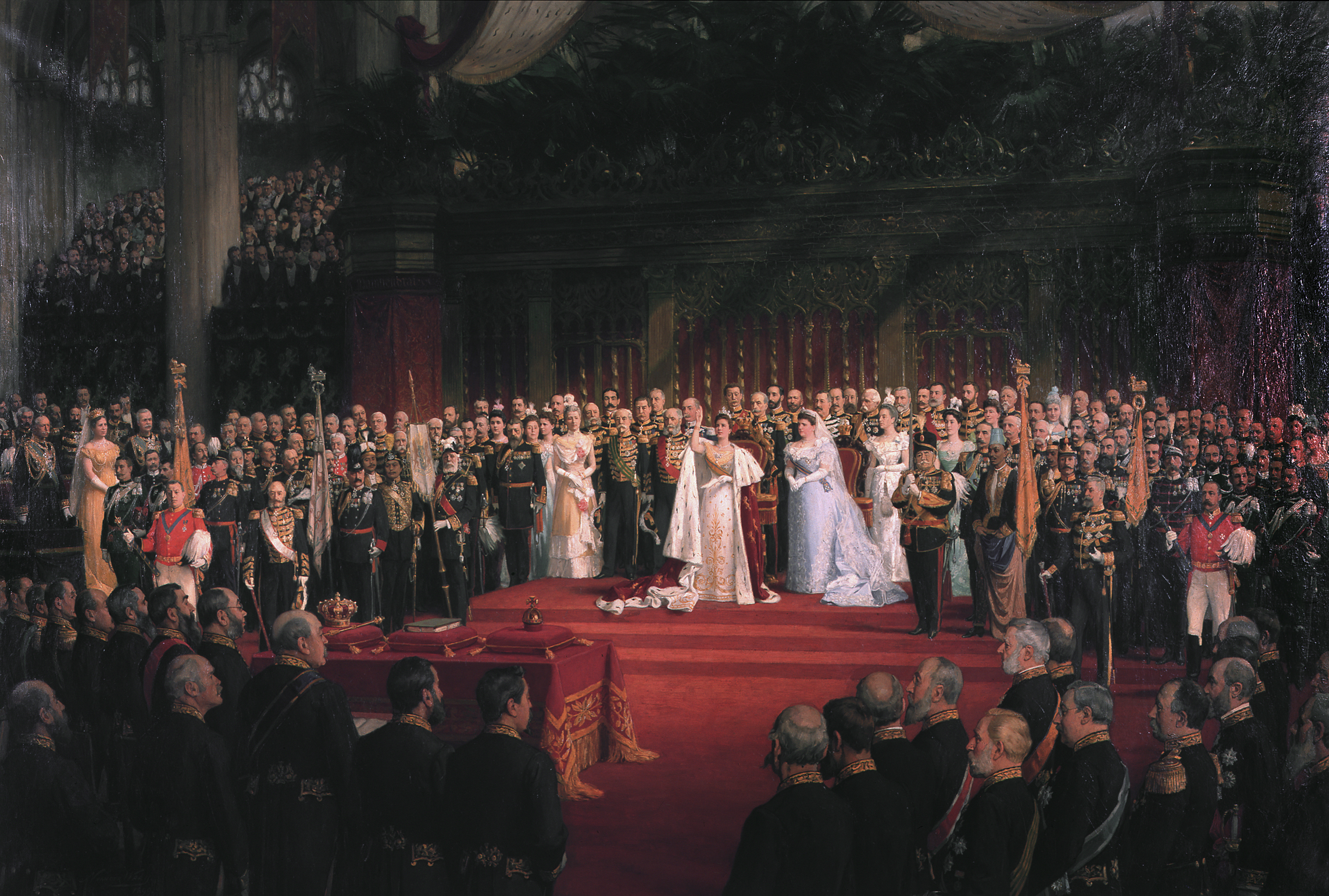 The inauguration of Queen Wilhelmina, by Nicolaas van der Waay