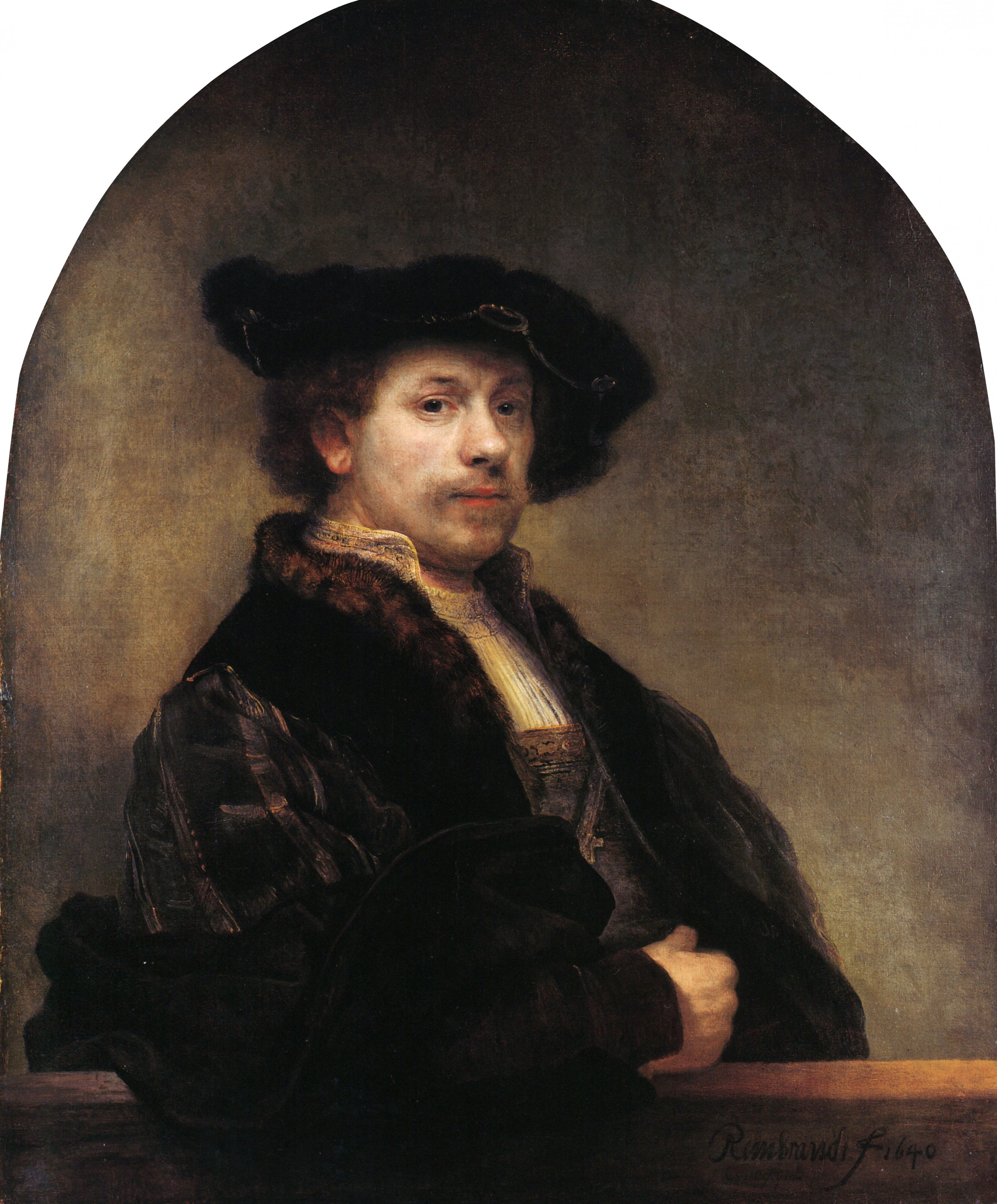 Self-portrait at 34 by Rembrandt