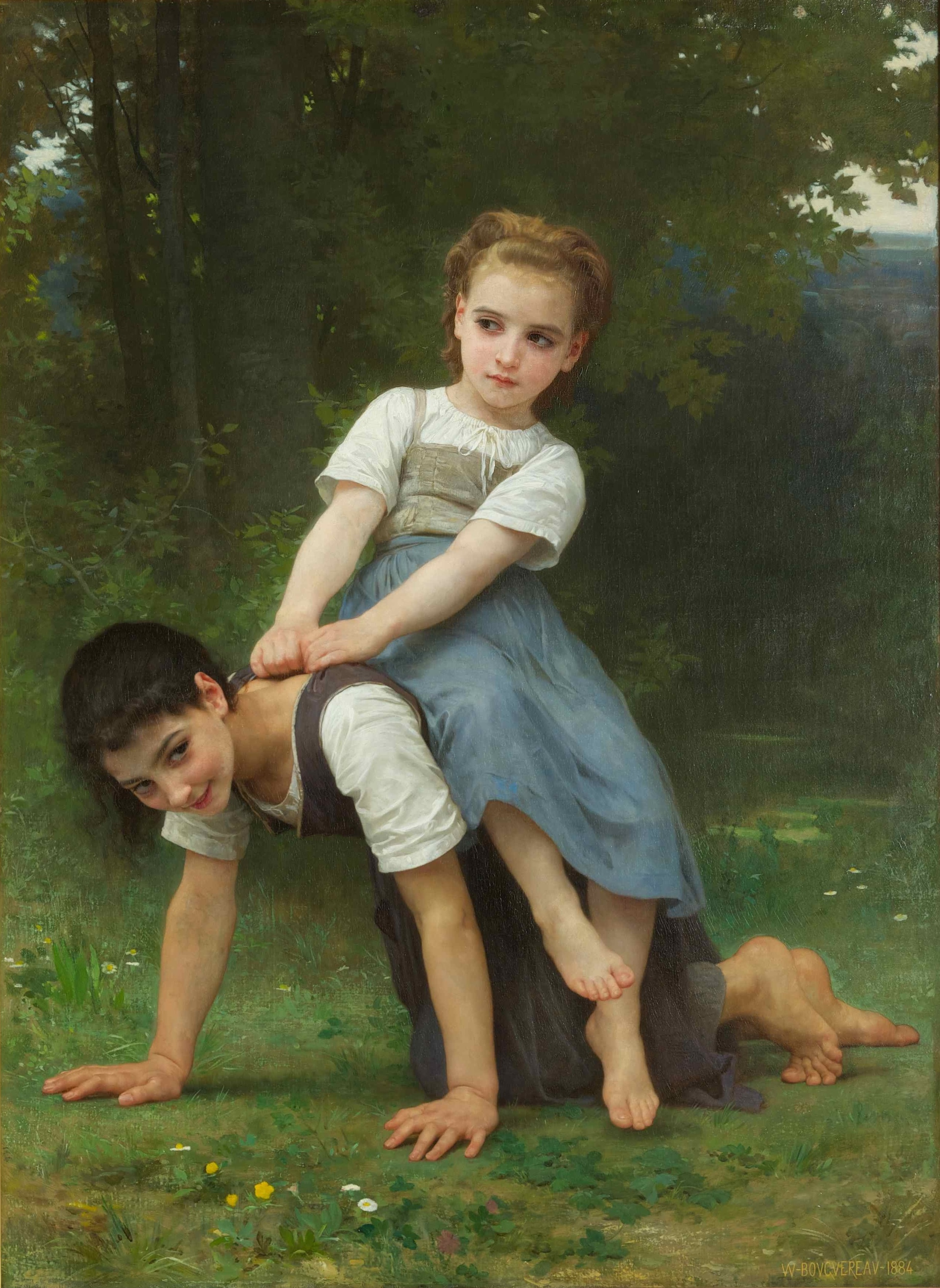 William-Adolphe Bouguereau - La Bourrique (The Horseback Ride) - Google Art Project