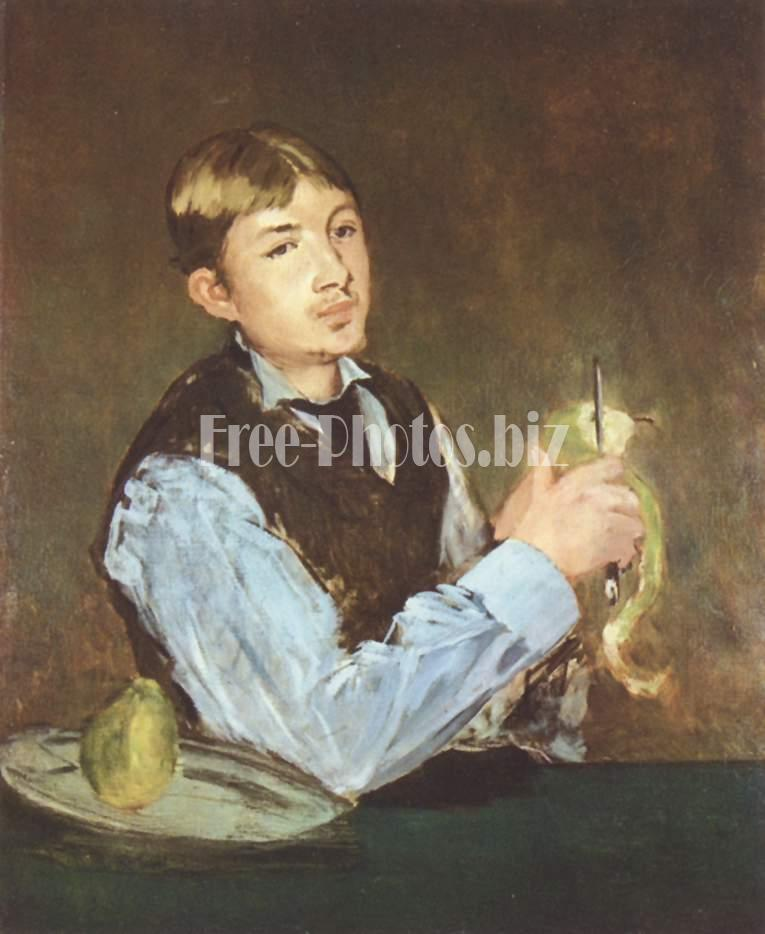 Edouard Manet: Young Boy Peeling a Pear