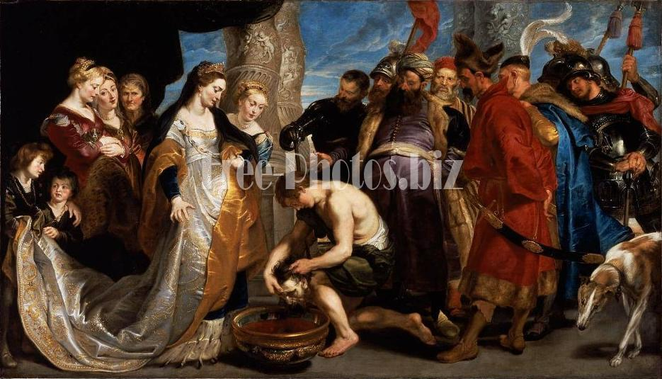Legend of Tomyris by Rubens (the head of Cyrus brought to Queen Tomyris).