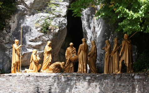 the Way of the Cross in Lourdes, France, August 2013, station 14/14