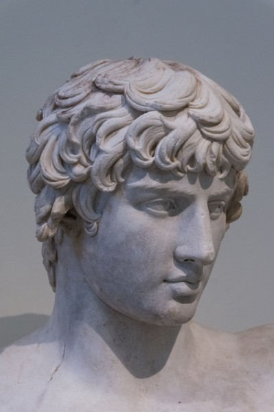 Antinous detail bust NAMAthens