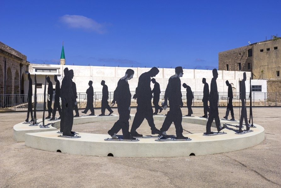 ISR-2015-Acre-Museum of the Underground Prisoners-Daily Stroll of Prisoners (sculpture) 01