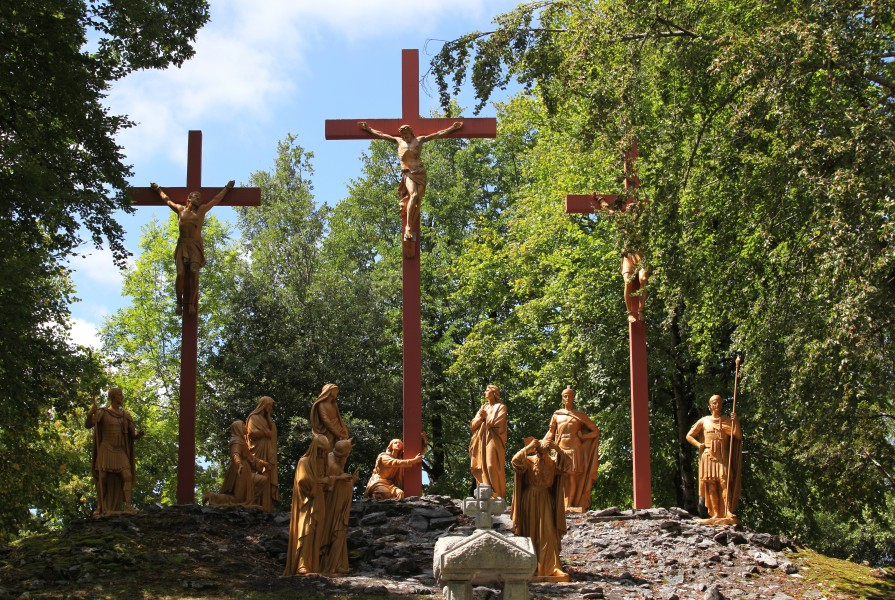 the Way of the Cross in Lourdes, France, August 2013, station 12/14