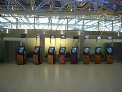 VTBS-Ticket machines for self-service of Thai Airways