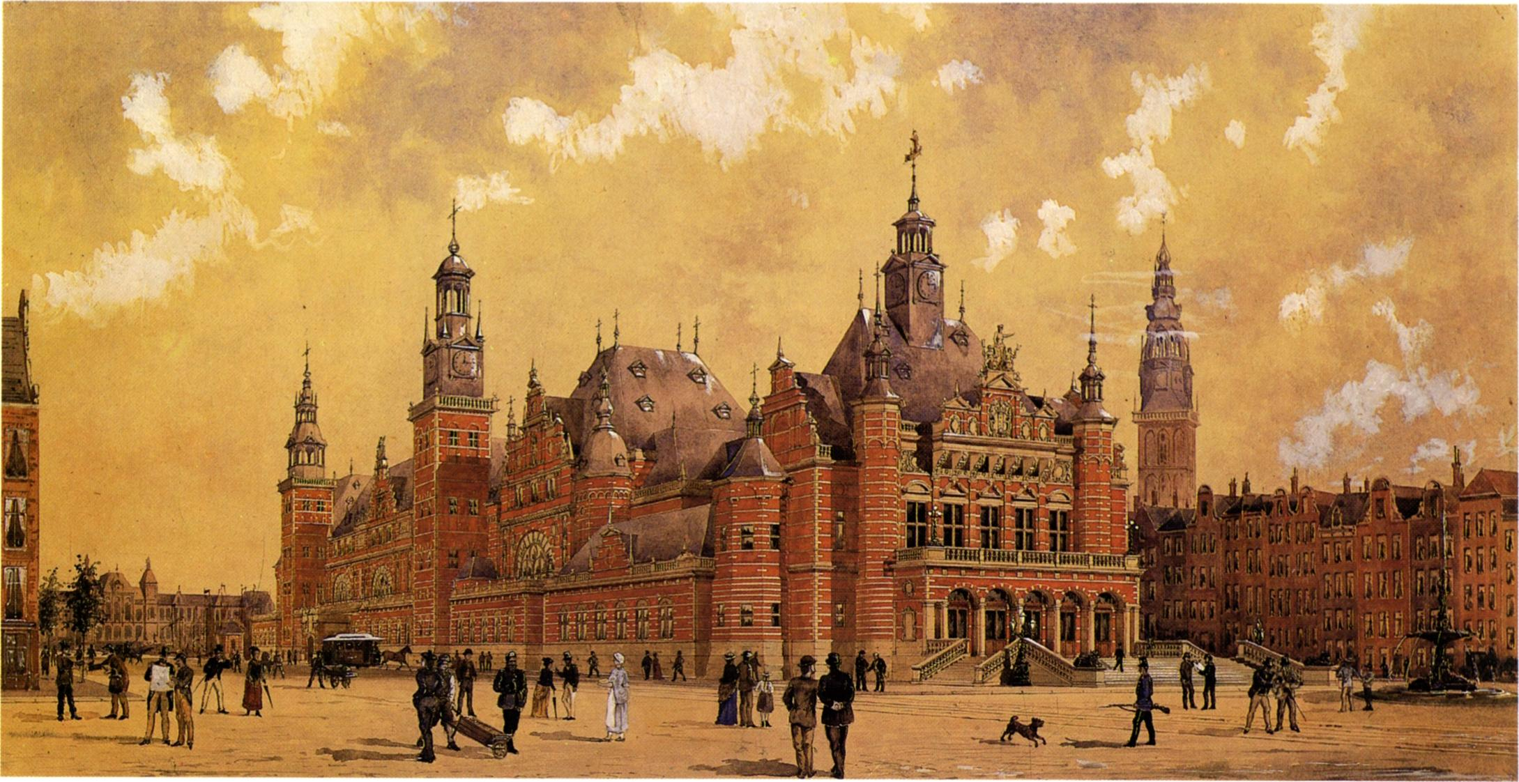 Berlage and Sanders design for a commodity exchange amsterdam 2