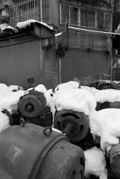 Electric engines under the snow