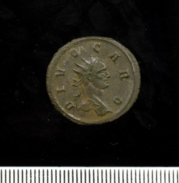 Silver-washed radiate of Divus Carus 283 (11 2) Obverse