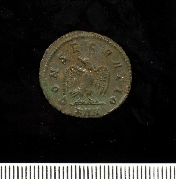 Silver-washed radiate of Divus Carus (11 2) Reverse