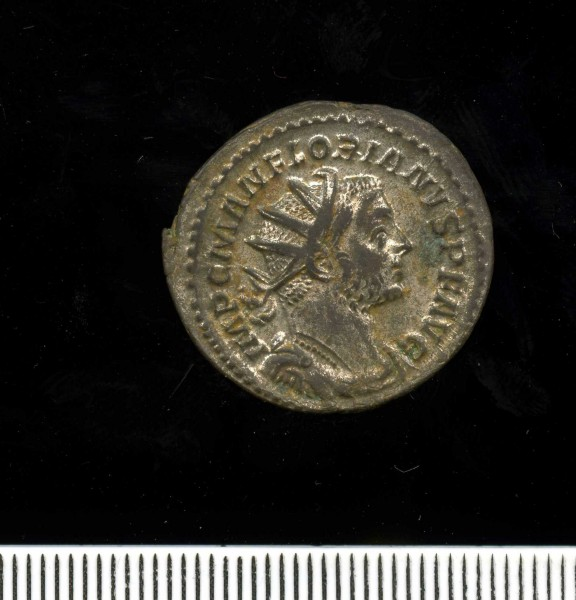 Silver-washed radiate of Florian 276 (11 2) Obverse