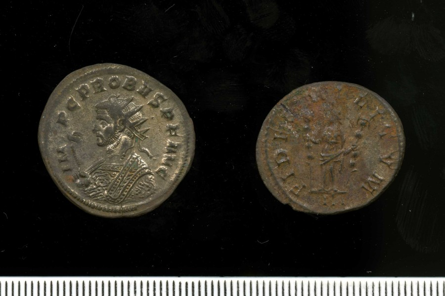 Silver-washed radiate of Probus 276-82 (11 2) Obv + Rev