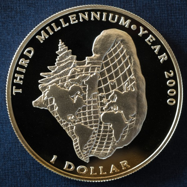 Third Millennium Year 2000 1 Dollar b