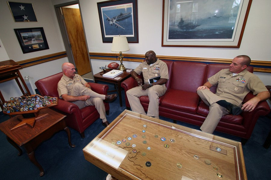 US Navy 100603-N-4482V-004 Senior enlisted leaders meet with Rear Adm. Joseph Kilkenny, commander of Naval Education and Training Command