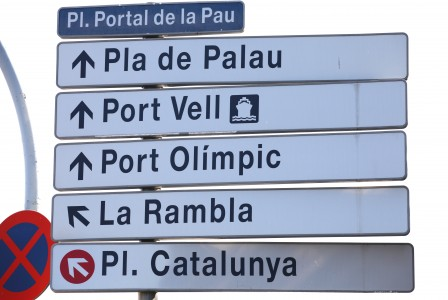 Barcelona city signs, Spain, Europe, August 2013, picture 18
