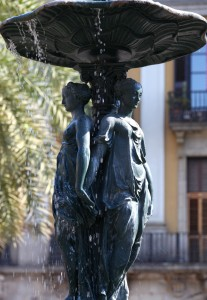 a fountain in Barcelona, Spain, Europe, August 2013, picture 25