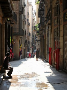 a street in Barcelona, Spain, Europe, August 2013, picture 38