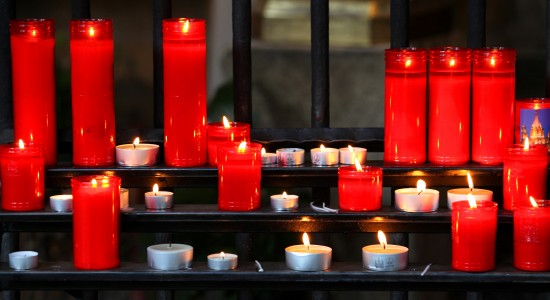 lit candles in Barcelona, Spain, Europe, August 2013, picture 42