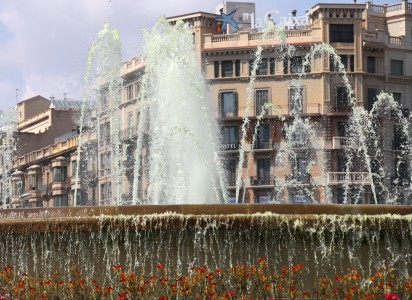 a fountain in Barcelona, Spain, Europe, August 2013, picture 49