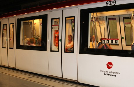 a metro train in Barcelona, Spain, Europe, August 2013, picture 52