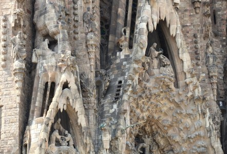 Sagrada Familia church in Barcelona, Spain, Europe, August 2013, picture 53